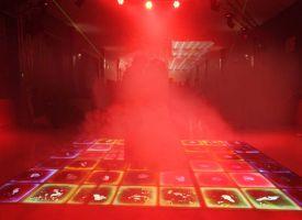 استیج رقص سه بعدی با نوردپردازی و بخار